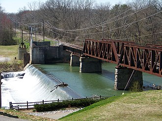 Warren County, Tennessee - Railroad bridge over Barren Fork in McMinnville