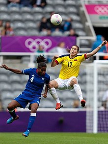 Melissa Ortiz (Colombia) v Laura Georges (France) at London 2012.jpg