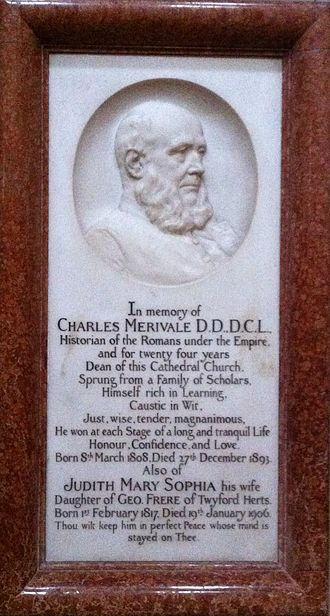 Charles Merivale - Memorial to Charles Merivale in Ely Cathedral