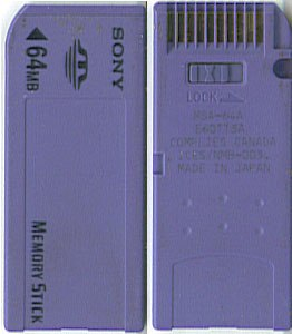Memory Stick Front and Back