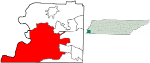 Geography of Memphis, Tennessee - Location in Shelby County and the state of Tennessee