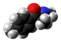 Mephedrone molecule spacefill from xtal.png