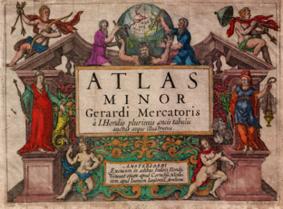 Frontispiece of the Atlas Minor of Mercator-Hondius, 1607