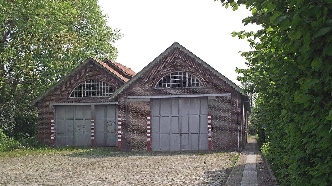 Old vicinal railway depot buildings in Merelbeke.