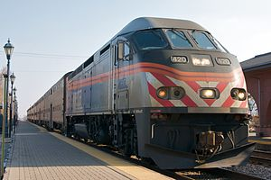 Milwaukee District / West Line - A Milwaukee District/West train at Roselle in 2009.