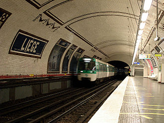 Paris Métro Line 13 - MF 77 at Liège station
