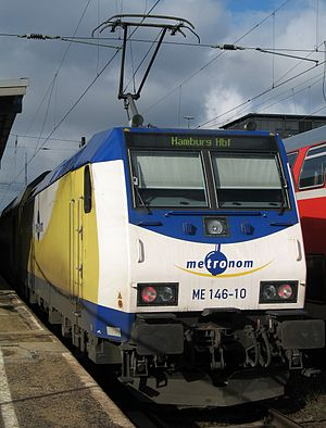 Metronom Eisenbahngesellschaft - Image: Metronom Lok Bremen HBF