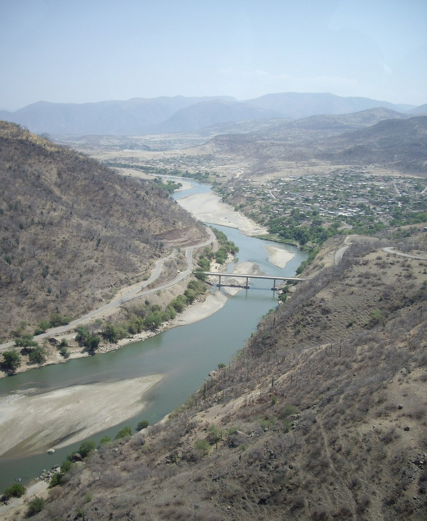 Mezcala (or Balsas) River in Guerrero, Mexico
