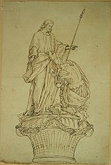 Design for a group of statues of Christ and the centurion
