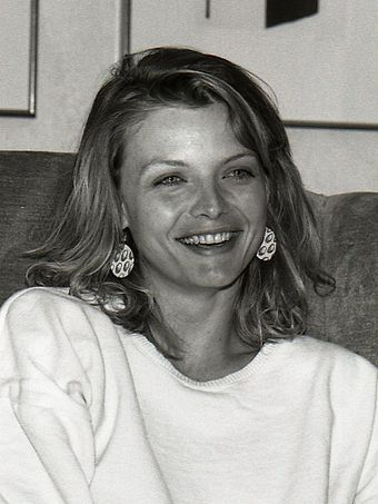 Michelle Pfeiffer was an unknown actress when she appeared in Scarface, and both star Al Pacino and director Brian De Palma initially argued against her casting. Michelle Pfeiffer 01.jpg