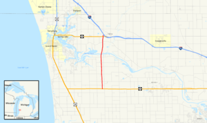 M-231 (Michigan highway) - Image: Michigan 231 Map