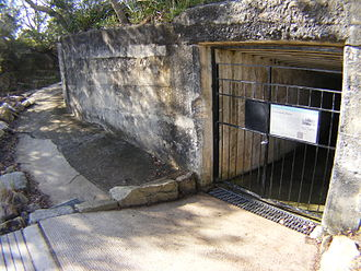 Lower Georges Heights Commanding Position - The main entrance to the fortification command position at Georges Heights