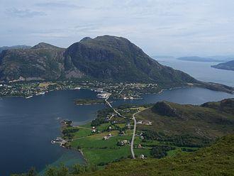 Otrøya - View of Midsund village on Otrøya