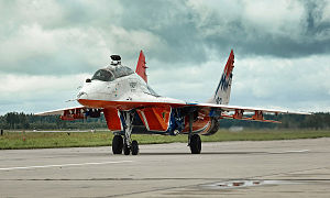 Mikoyan MiG-29 - MiG-29UB of the Swifts aerobatic team