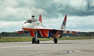 Swifts (aerobatic team) - MiG-29UB of Swifts at Kubinka air base