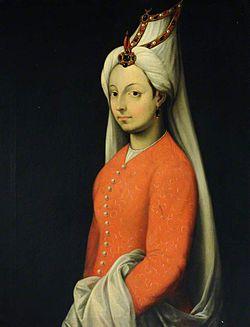 Mihrimah Sultan'ın ünlü İtalyan ressam Tiziano Vecellio tarafından yapılmış, Cameria adlı yağlıboya portresi, 16. yüzyıl