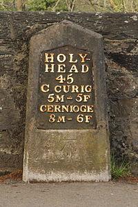 Milestone, Betws-y-Coed (Holyhead 45 miles).JPG