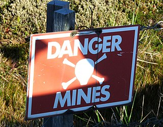 Land mines in the Falkland Islands