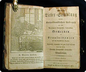 Pennsylvania Ministerium - An 1803 hymnal, published by the Pennsylvania Ministerium