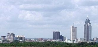 History of Mobile, Alabama - The Mobile skyline in 2007.
