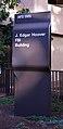 Modern sign at SE corner - J Edgar Hoover Building - Washington DC - 2012.jpg