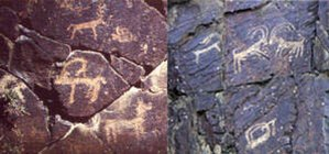 Proto-Mongols - Cave paintings