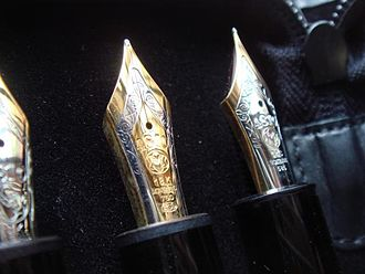 Montblanc (company) - Image: Montblanc 149 nibs (DSC02303)