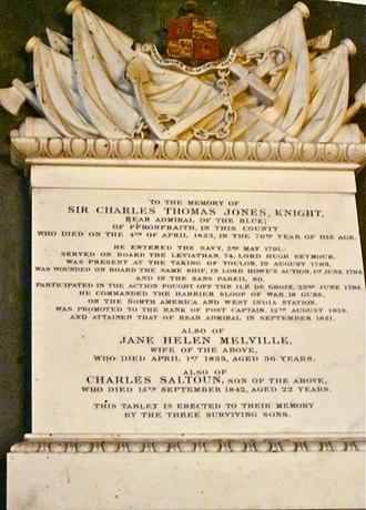 Fronfraith Hall - Monument to Sir Charles Thomas Jones, Montgomery Church