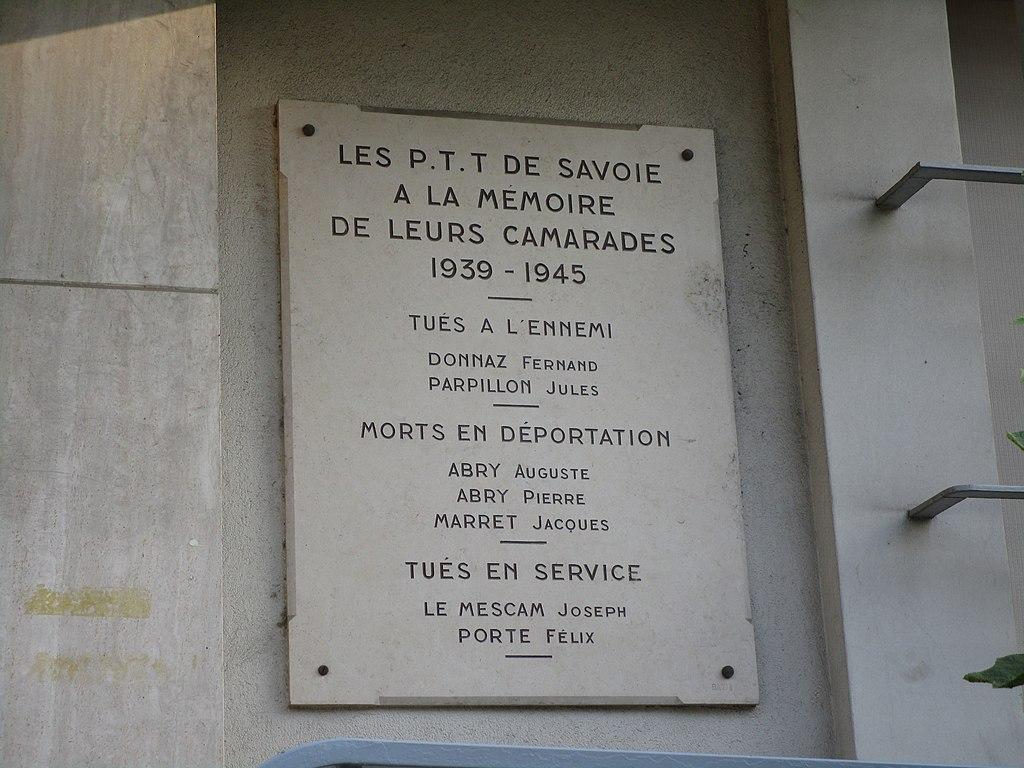 File monument aux morts poste de chamb ry wikimedia commons - Bureau de poste chambery ...