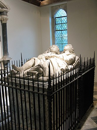 Peregrine Bertie (senior) - Monument of Peregrine Bertie and his wife, Susan Monins