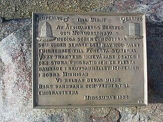 Ishpeming, Michigan - Emigration plaquette