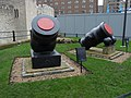 Mortars outside the Tower of London in March 2011.jpg