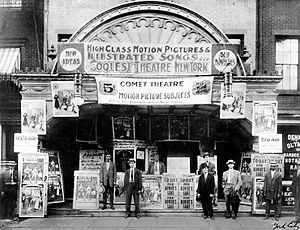 A five cent movie house, 1917.