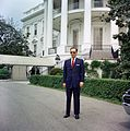 Mr. Piniau Stands by South Portico of White House (14987598821).jpg