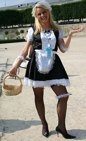 French maid - Woman in a French maid outfit, Paris.