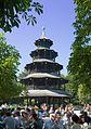 Munich English Gardens - Chinese Tower Beer Garden - August 2006.jpg