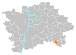 Location of Benice in Prague