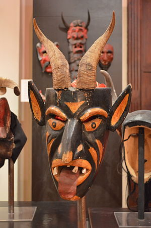 Museo Nacional de la Máscara - Devil mask for the Dance of the Devils in Ixcateopan, Guerrero