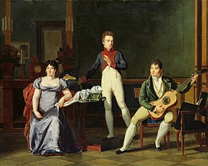 Fernando Sor - Musician and his Family, French oil painting (Bibliothèque Marmottan, Boulogne-Billancourt, Paris)