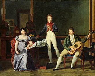 Fernando Sor - Musician and his Family, French oil painting (Bibliothèque Marmottan, Boulogne-Billancourt, Paris)