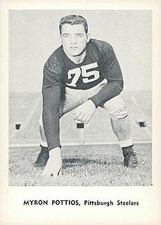 Myron Pottios American football player
