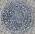 Nürnberg-Fürther Strassenbahn 20 Pfennig - reverse.jpg