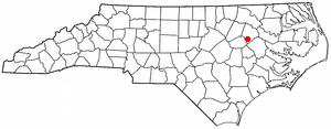 Pinetops, North Carolina - Image: NC Map doton Pinetops