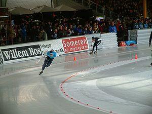 Gianni Romme - Gianni Romme skating against Bob de Jong in 2003