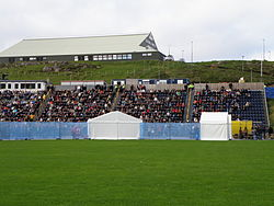 Nabb, One of the Sports Halls in Tórshavn and Tórsvøllur, the National Football Stadium of the Faroe Islands.JPG