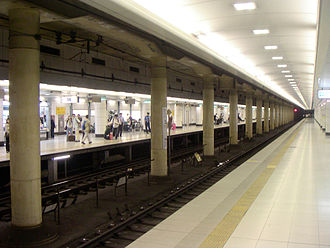 Narita Airport Terminal 2·3 Station - Platforms of Narita Airport Terminal 2·3 Station, JR platform on other side of tracks