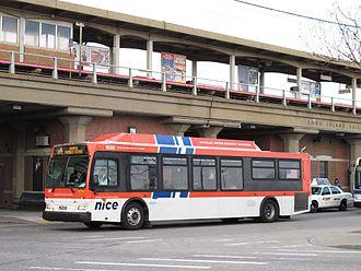 Freeport station (LIRR) - Image: Nassau Inter County Express Orion VII CNG (2011)