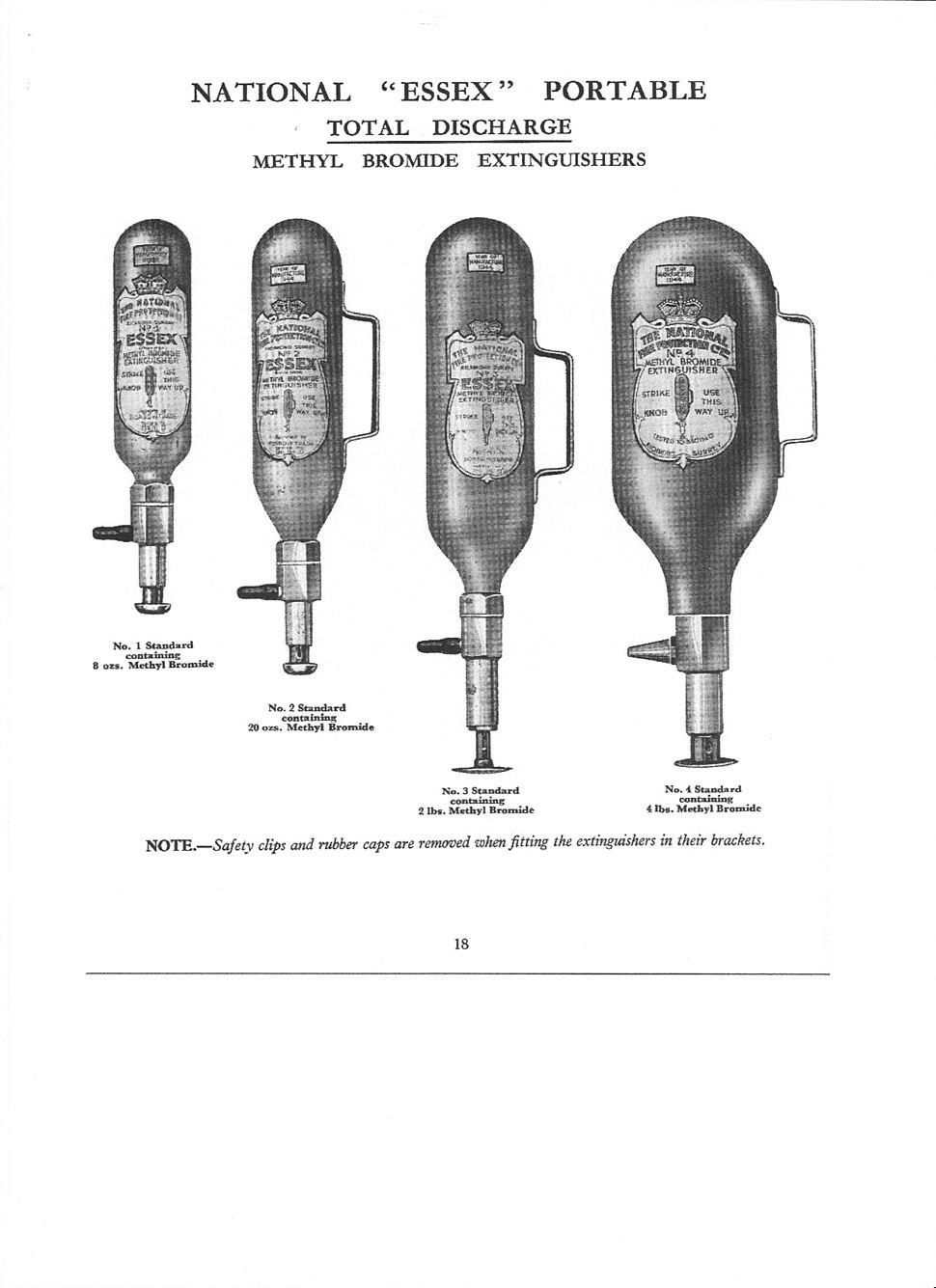 National Methyl Bromide extinguisher