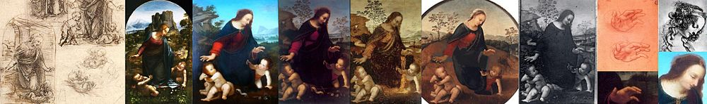 Nativity by various followers of Leonardo da Vinci - Salai, Cesare da Sesto, Fernando Yanez de la Almedina and Anonymous
