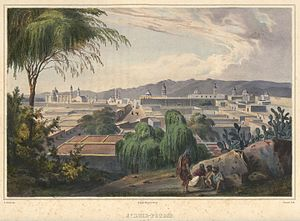 San Luis Potosí - View of San Luis Potosí by Carl Nebel